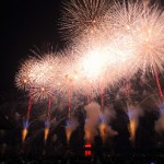 多摩川花火大会は二子玉川駅は混む?有料席やレストランは?