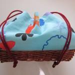 浴衣のかごバッグの作り方 手ぬぐいで簡単100均材料300円で!