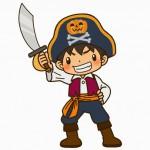 ハロウィンの海賊 子供のは手作りで男の子と女の子